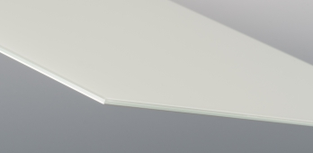 Lackiertes Glas 6 mm - WEISS RAL 9003